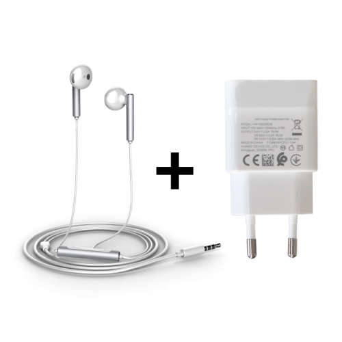Headset & Charger Bundle - White