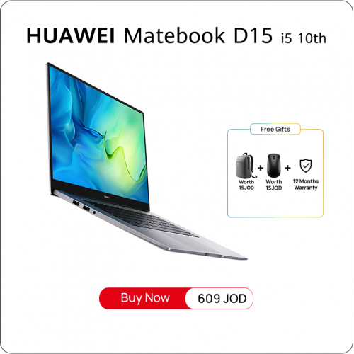Matebook D15 i5 10th - Space Grey - 512GB NVMe PCIe SSD